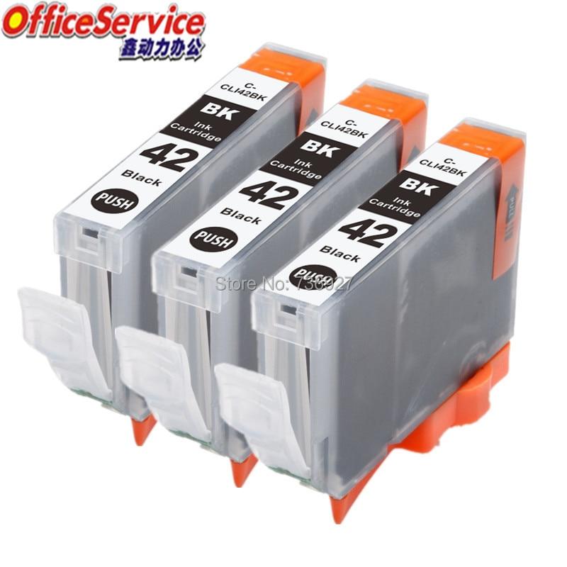 3x preto CLI-42 cli42 cli 42 cartucho de tinta compatível para canon pixma pro-100 impressora a jato de tinta