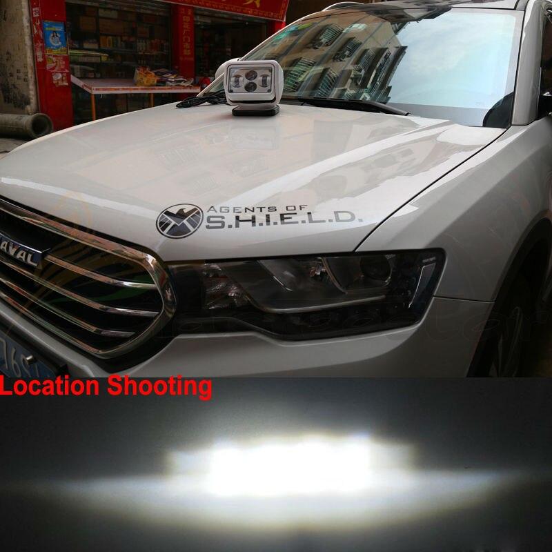 12v 24v 60w 7 polegada led rotativa controle remoto trabalho luz spotlight para atv suv barco carro caminhão jardim ip65 farol feixe de condução