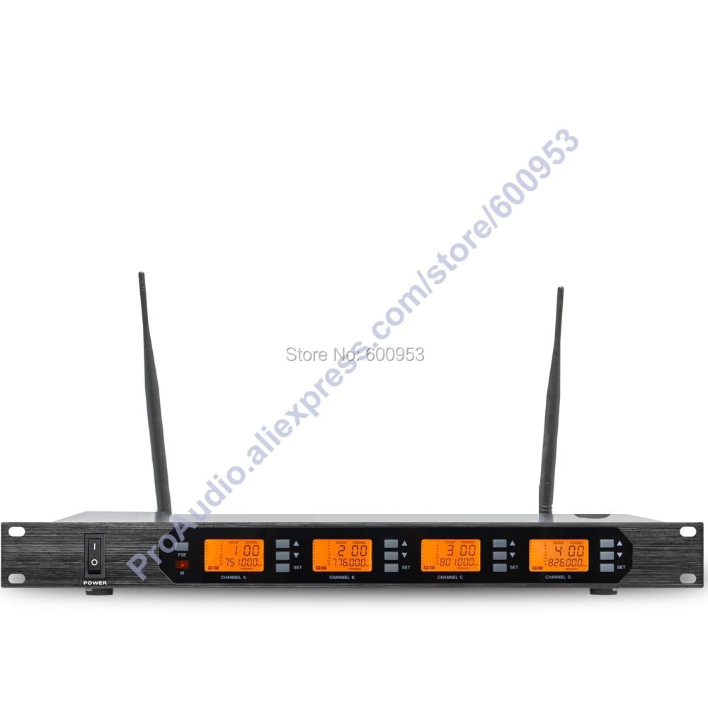 MICWL Audio M400-4BL UHF 400 Channel Digital Wireless Microphone Mic System 4 mini black ear hook Headset Mike