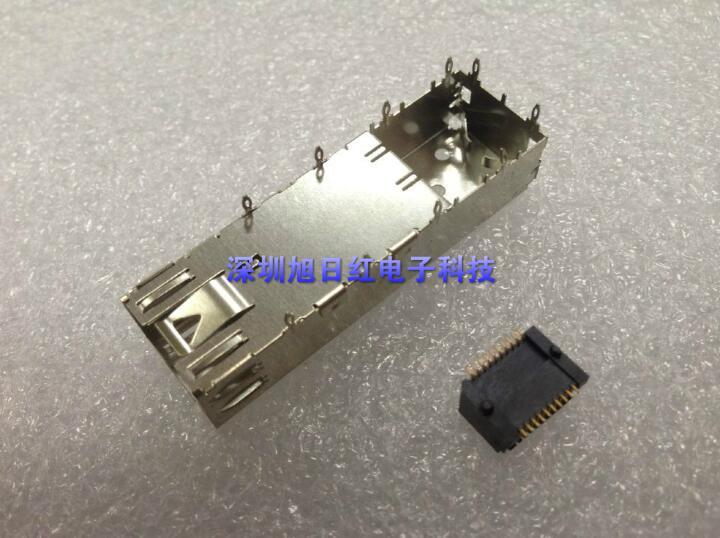 SFP gaiola tipo de Pressão 1*1 20 P interface De Fibra óptica escudo habitação conector assento