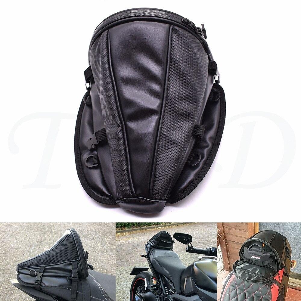 Nuevo color de fibra de carbono bolsa trasero para motocicleta mochila para asiento bolso para Honda CBR300R CB300F CB300FA CBR500R CB500F CB500X CBR250RR