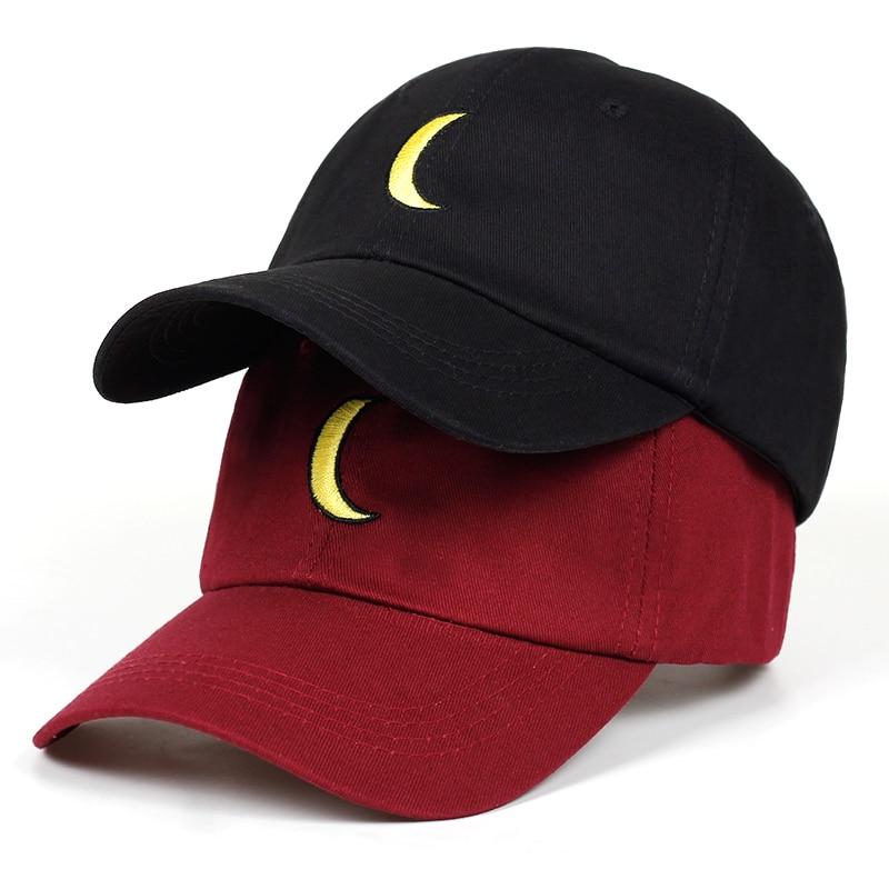 ¡Novedad de 2019! gorra de béisbol bordada con dibujo de Luna para papá, gorra curva a la moda de marca snapback, gorra de Hip-hop, gorros con garras