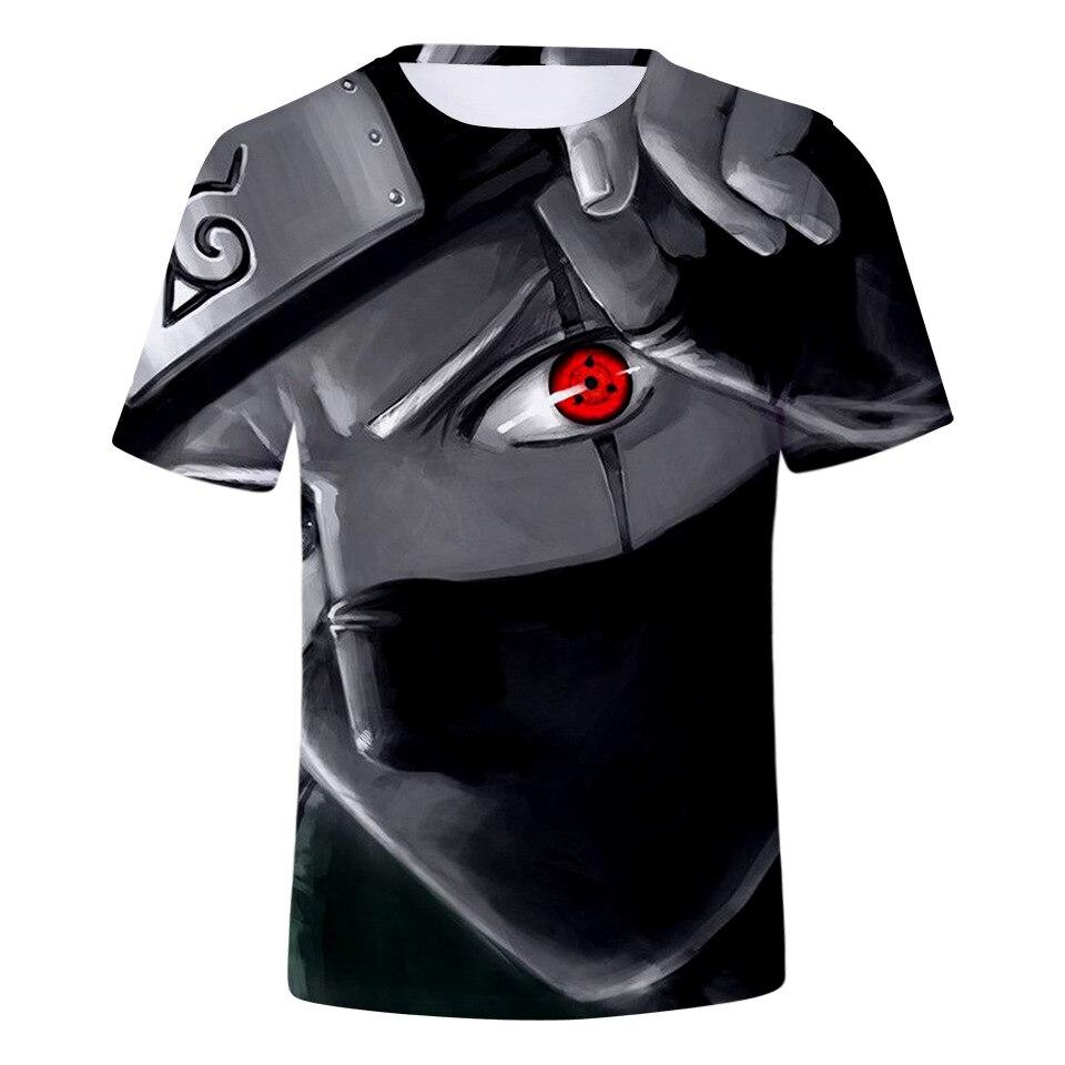 Naruto ojo sharingan camiseta de hombre efecto 3D camiseta divertida de Anime japonés, camisetas de verano Hokage naruto, camisetas geniales, camisetas para hombre