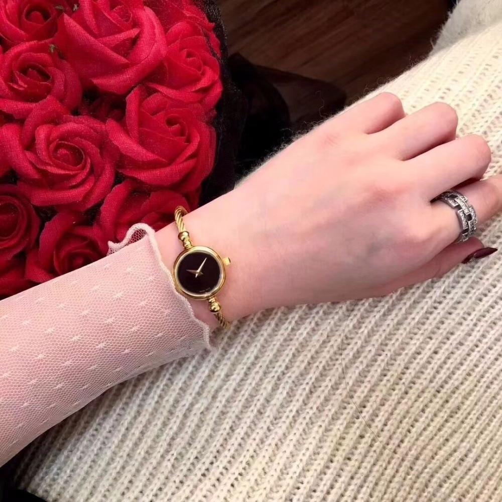 Dropship famosa marca oro plata lujo cuarzo pulsera reloj de acero inoxidable vestido mujeres relojes Relogio Feminino reloj