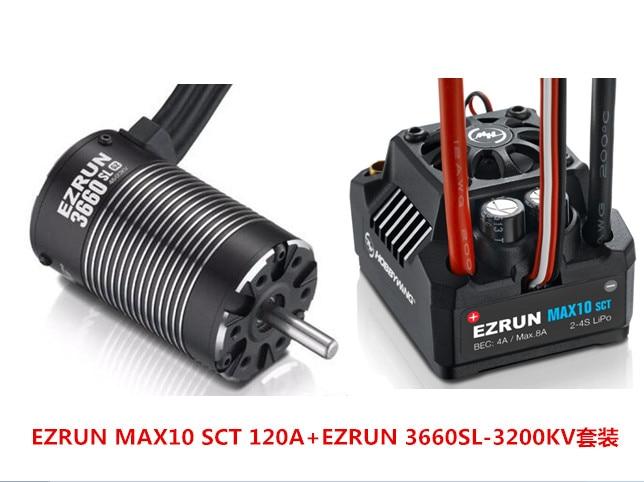 Hobbywing EZRUN MAX10 SCT 120A Bürstenlosen ESC + 3660 G2 3200KV/ 4000KV/4600KV Sensorlose Motor Kit für 1/10 RC Auto Lkw F19286/8
