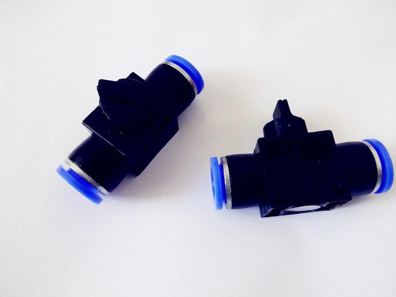 Envío gratis 2 piezas válvula de mano 12mm x 12mm Tubo Push in para conectar en línea Flujo de 2 vías controlador de velocidad de válvula neumática limitante