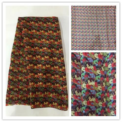 Nuevo verano estampado 100% seda gasa tela para mujeres vestido 140 cm ancho 6 Momme fino Georgette moda paño DIY de DSF20