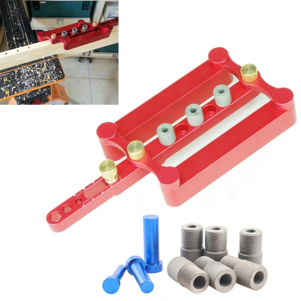 Plantilla de espiga autocentrante, espiga métrica, localizador de perforación, juego de herramientas de carpintería