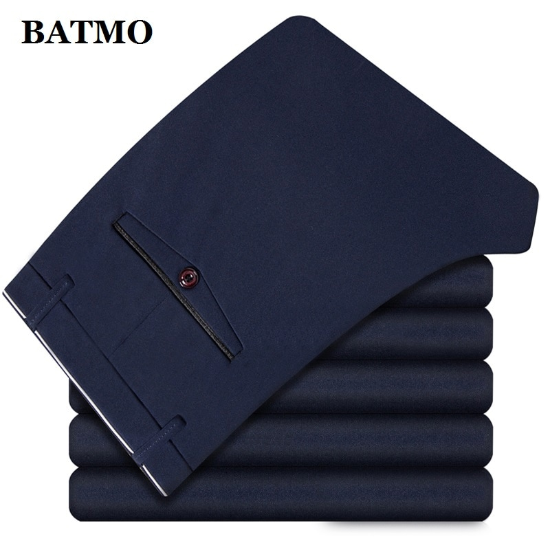 BATMO 2020 neue ankunft hohe qualität casual hosen männer, männer der smart casual hosen, elastische hose, plus-größe 1828