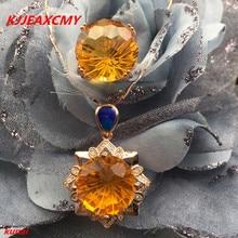 KJJEAXCMY boutique bijoux 925 collier de perles avec collier de topaze naturelle pure.