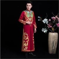 chinese traditional wedding costume the groom gown suits jacket robe ancient wedding bridegroom clothing for oversea chinese