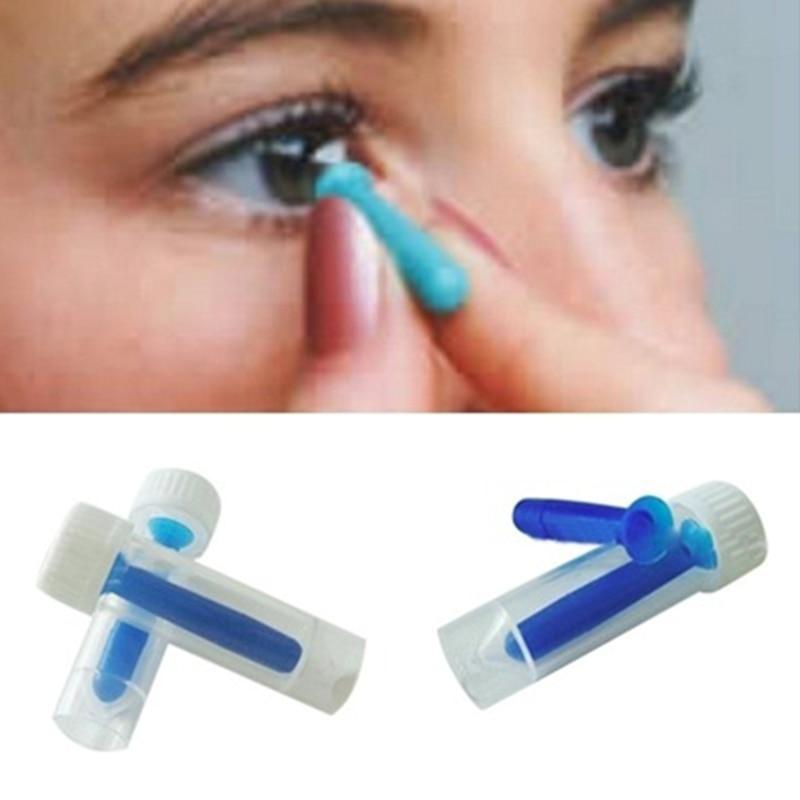 1pc portablecontact removedor de lente inserter para cor/colorido/lentes de contato halloween otário ferramenta de maquiagem