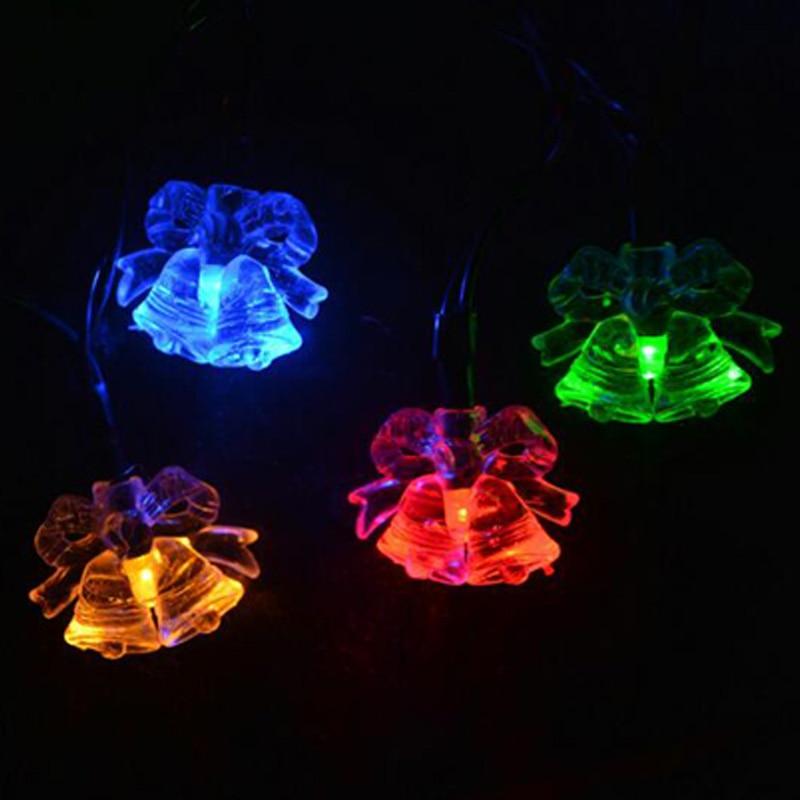Luz Solar de jardín luces solares de Navidad 20 LED Sola Hada cadena luces para fiesta de Navidad decoración de jardín lámpara Solar al aire libre