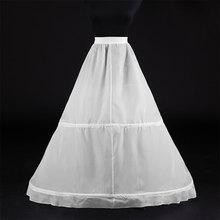 Vrouwen Wit 2 Hoops Petticoat A-lijn Bruiloft Accessoires Bridal Hoepelrokken Vestidos De Novia Onderrok Drukte Petticoats