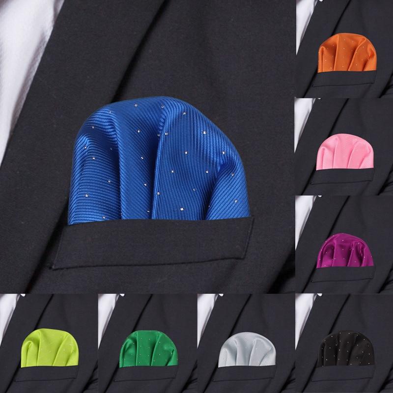 Trajes de puntos de moda cuadrado de bolsillo para hombres de negocios pecho toalla pañuelo pañuelos de caballero traje clásico servilleta pañuelos para hombre