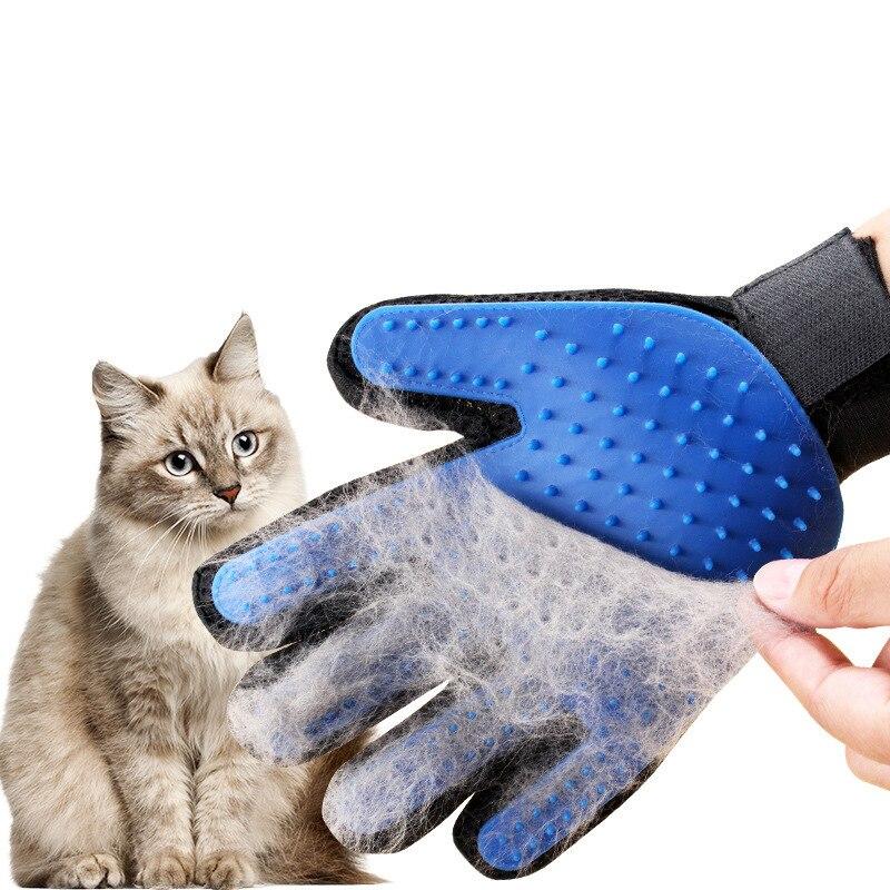 סיליקון לחיות מחמד טיפוח כפפת לחתולים שיער מברשת מסרק ניקוי Deshedding חיות מחמד מוצרים עבור חתול כלב הסרת מברשת שיער לבעלי חיים
