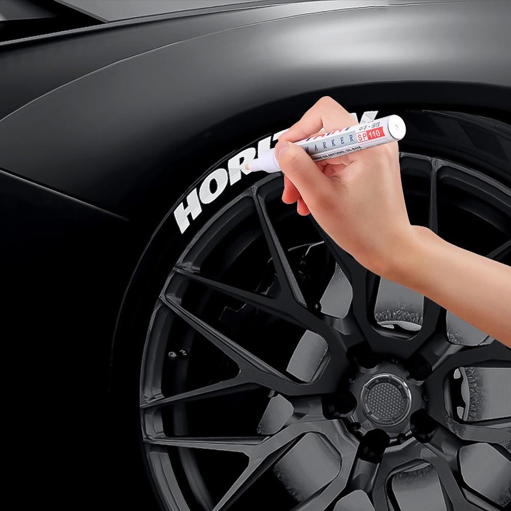 Автомобильные шины протектора металлические перманентные маркер-краски деплект наклейка ручка для Citroen C5 C4 C3 Mini Cooper Opel Astra H G J Vectra C Saab