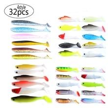 Meredith 32 sztuk 4 typ miękkie tworzywo sztuczne przynęty dla Fishing Lure sztuczne Swimbait dla wszystkich rodzajów sprzęt wędkarski darmowa wysyłka