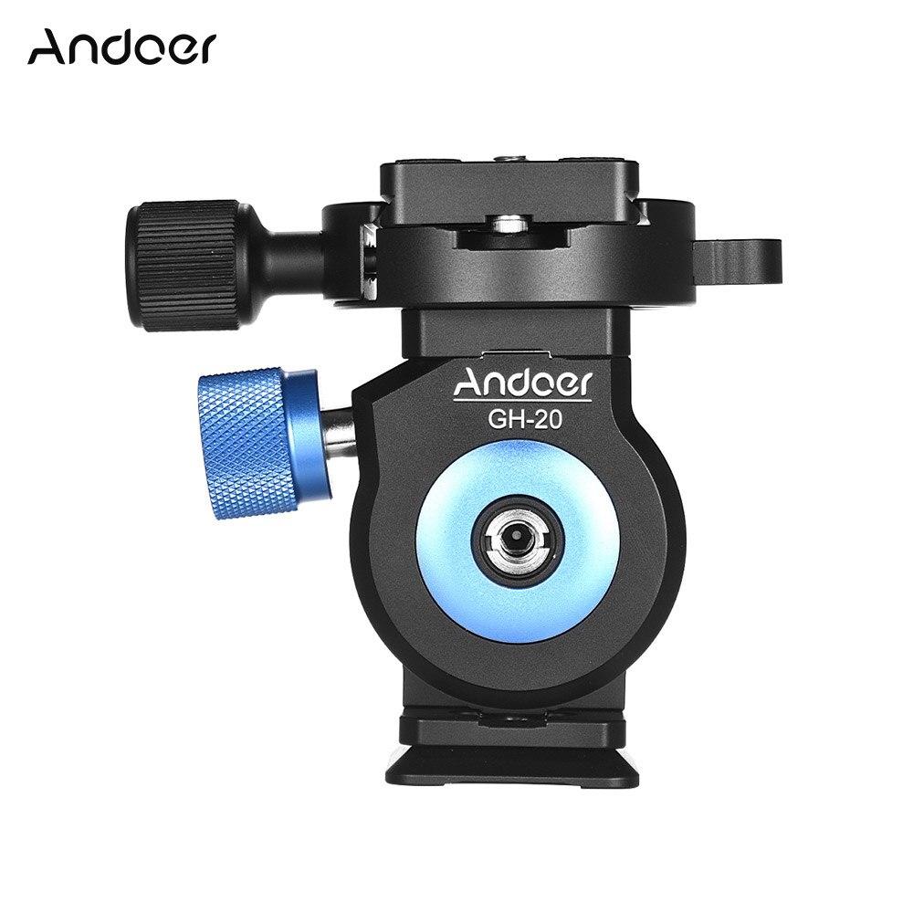 Andoer GH-20 الألومنيوم ترايبود رئيس الميل CNC Monopod الكرة رئيس w/سريعة الإصدار بلايت متوافق ل أركا السويسرية Sirui جبل