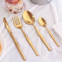 KTL service de vaisselle noir or argent 304   24 pièces, couteau à Steak fourchette cuillères couverts service de table, service de table cadeau