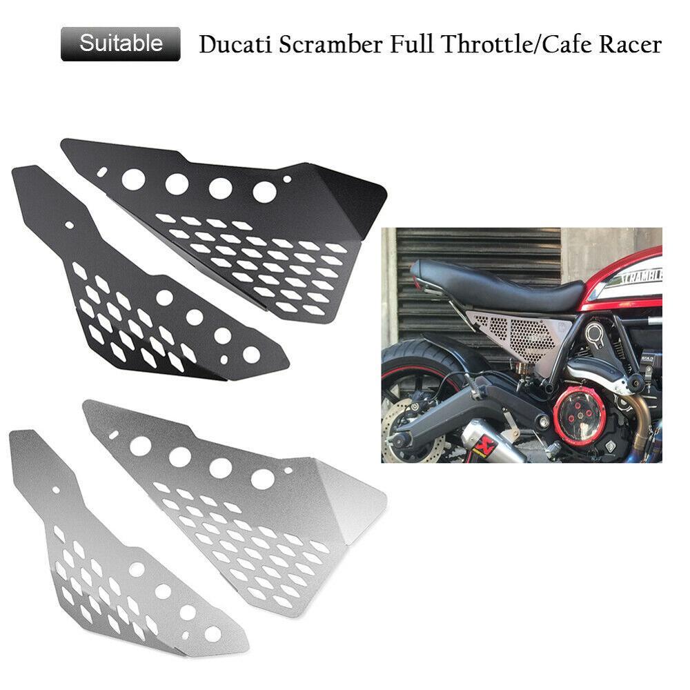 Side Frame Cover Panel Protector For Ducati Scrambler 800 400cc Street Classic Icon Sixty Desert Sled Full Throttle 2015-2019