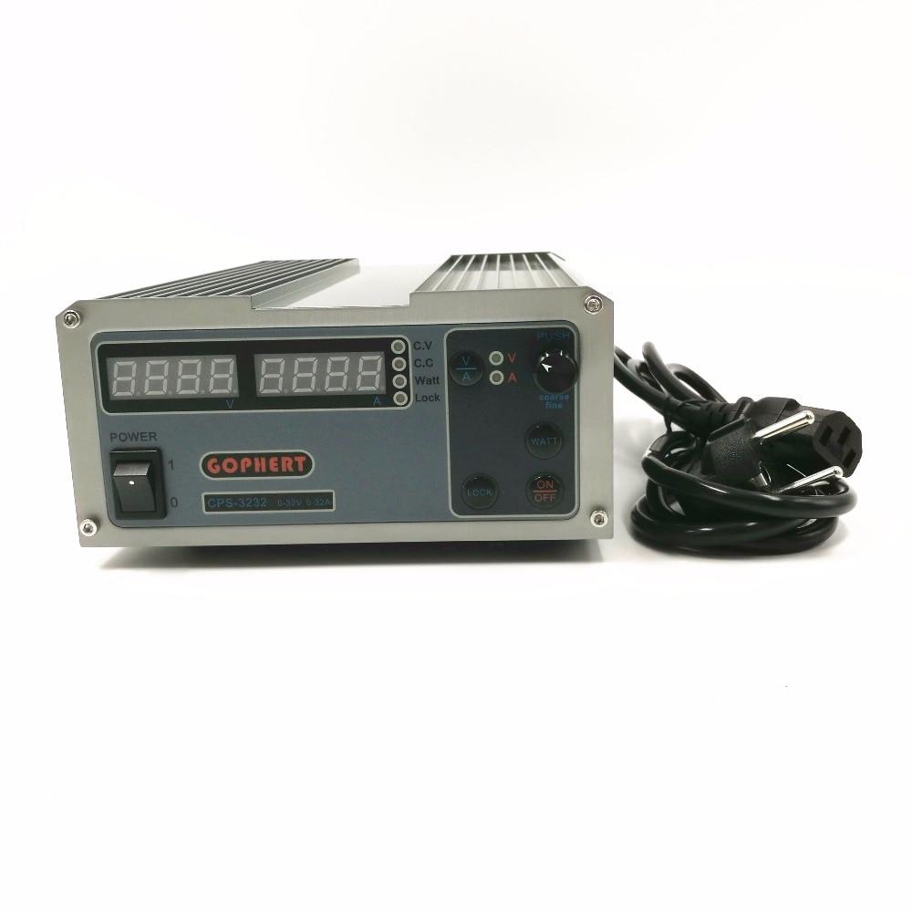 CPS-3232 1000 واط 0-32 فولت/0-32A ، عالية الطاقة الرقمية قابل للتعديل مختبر تيار مستمر امدادات الطاقة 220 فولت