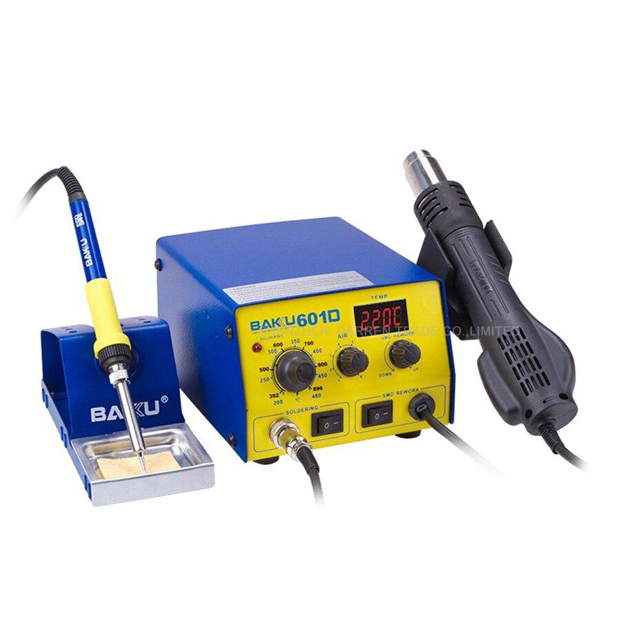 Pantalla Digital LED de 220V BAKU BK-601D, estación de reparación de aire caliente SMD, estación de soldadura de aire caliente BGA refundido