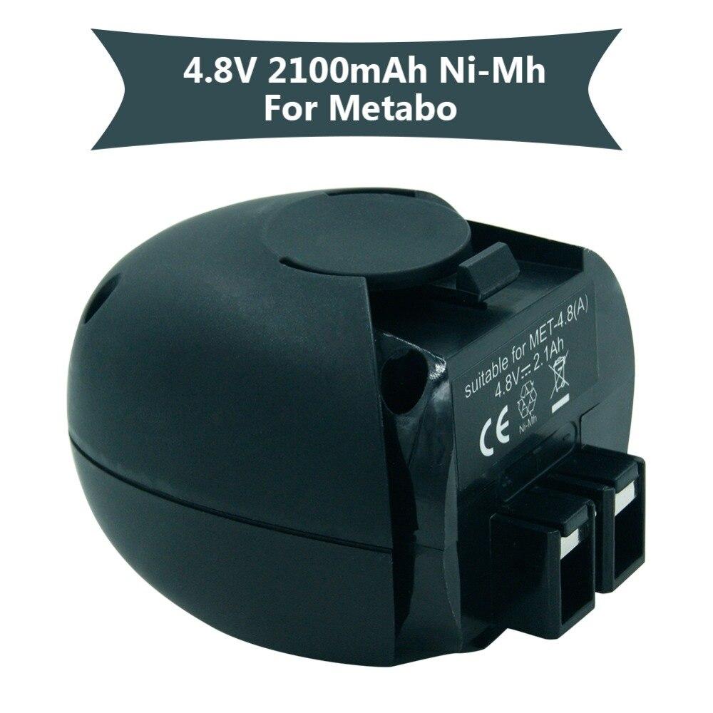 Reemplazo de 4,8 V 2100 mAH Ni-MH recargable taladro de mano de la batería para Metabo 6,31858 6,27270 PowerMaxx Powergrip2