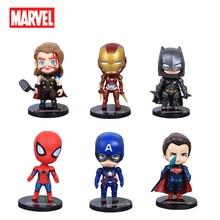 Disney Marvel Avengers Infinity War Captain America Thor Spiderman Q Version Figurine Action Collection Anime Figurine jouet modèle