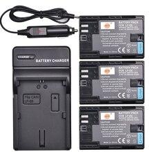 Batterie pour caméra DSTE 3x   Avec étui de Protection et chargeur, pour Canon 60Da 60D 70D 80D 90D 5DS R 5D Mark IV 7D Mark II