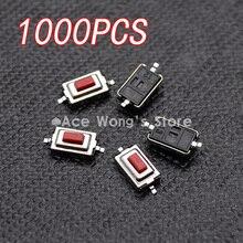 3X6X2.5MM Tactile Tactile   Commutateur momentané, bouton rouge, bouton rouge, bouton rouge, 3*6*1000 MM, 2.5 pièces/lot