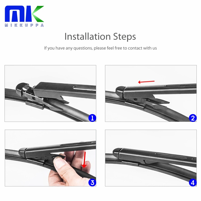 Mikkuppa Windshield Wiper Blades with Spray Bar for Tesla Model X Fit Pinch Tab Arms 2016 2017 2018 2019 enlarge