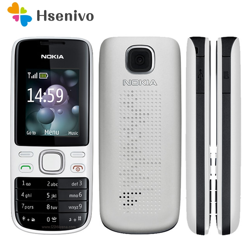 Nokia 2690 Refurbished-original unlocked 2690 mobile phones internal 3MB GSM bar cellphones refurbis