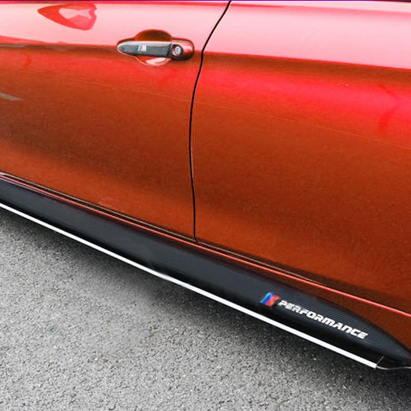 Calcomanías para BMW F30 F31 F32 F33 F15 F16 F10 E60 E61, calcomanías de vinilo de fibra de carbono Holloween M Performance Side Skirt Sills