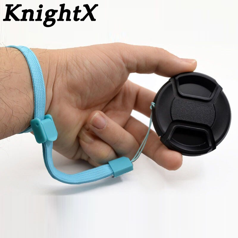 KnightX 49 52 55 58 62 67 72 77 mm center pinch Snap-on cap cover for canon/nikon d600 d3400 d7200 d3100 d3300 Lens camera