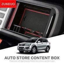 ZUNDUO caja para reposabrazos central de coche para HAVAL H6 accesorios interiores Almacenamiento de reposabrazos rojo/negro