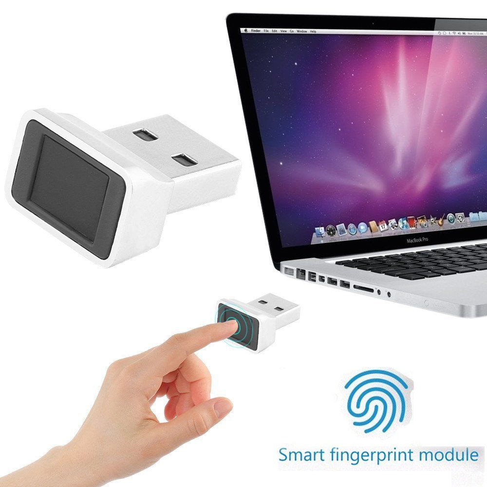USB Fingerprint ID Reader Security Key Biometric Fingerprint Scanner Sensor Dongle Module for Instant Touch Acess PC Laptop