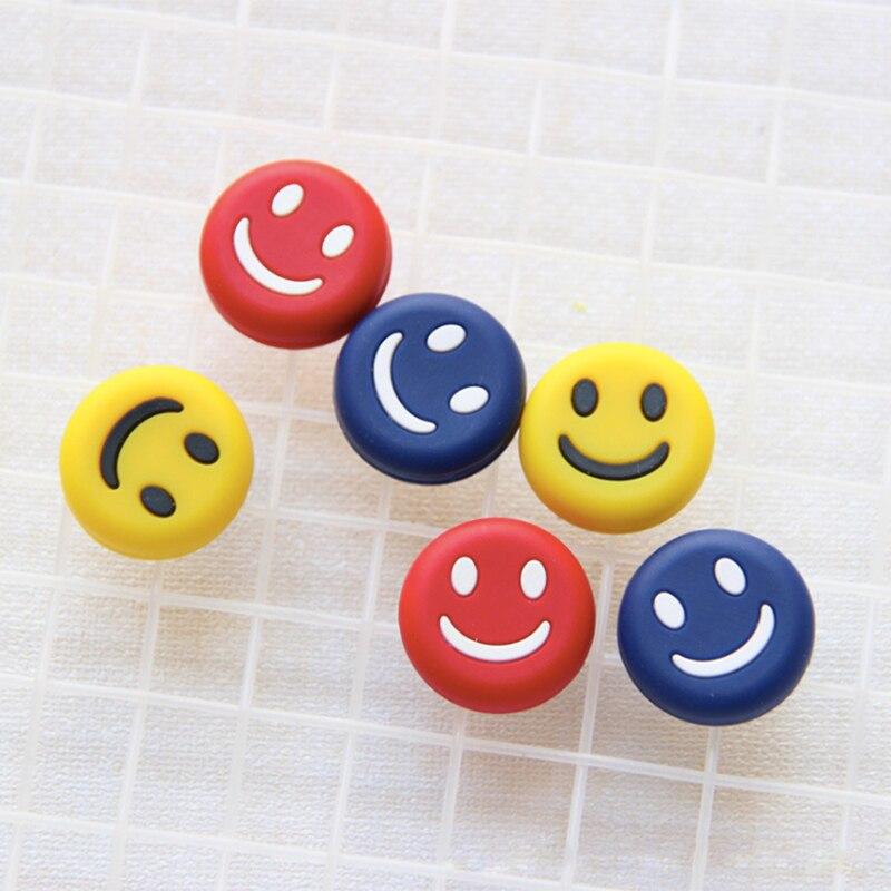 10 pçs/lote raquete de tênis silicone amortecedor vibração em 3 cores sorriso rosto macio silicone amortecedor para raquete de tênis corda 2cm dam