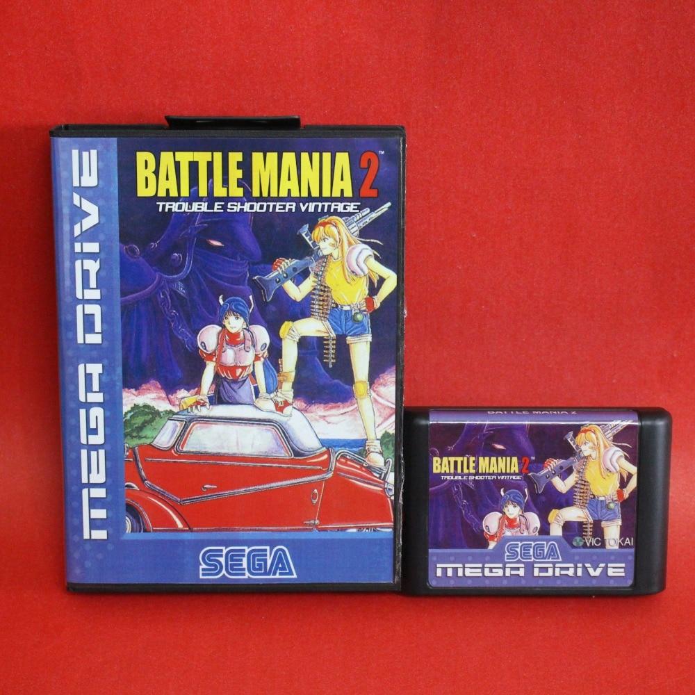 Battle Mania-Dai Gin Jou II 16 bit MD cartão com caixa de Varejo para Sega MegaDrive Video Game console sistema