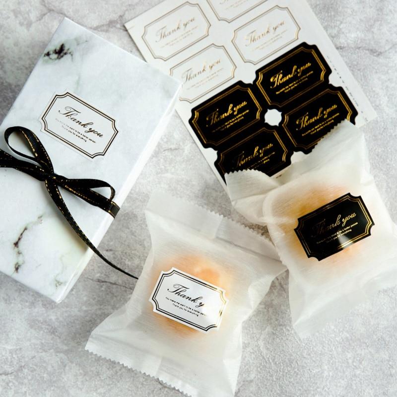 160 шт., благодарим вас, подарочные бирки, наклейки для домашнего изготовления, пакеты для печенья, этикетки с печатью, свадебные сувениры, веч...