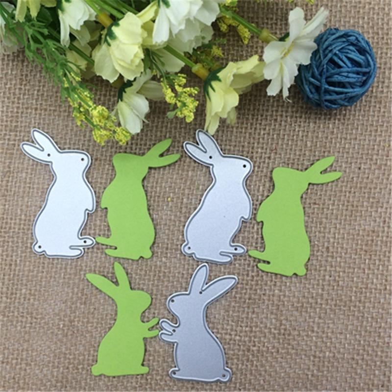 3pcs white rabbit baby hare album Metal cutting dies Stencil Scrapbooking Photo Album Card Paper Embossing Craft DIY