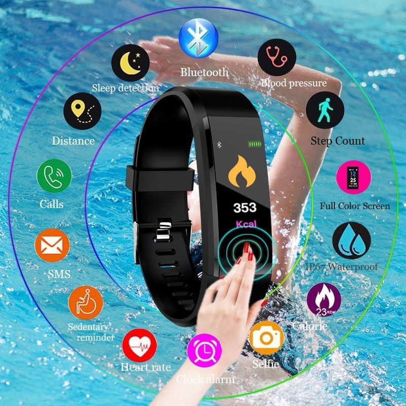 Smart Watch Bluetooth Wristband Bracelet ID115 Plus Sport Heart Rate Monitor Activity Fitness Tracker Band
