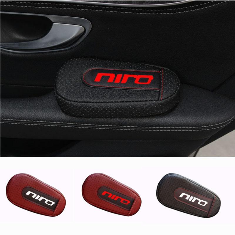 Cojín de cuero suave para piernas, almohadilla para reposabrazos, accesorios interiores para coche para Kia Niro