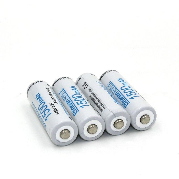 4 Uds Etinesan 3,2 v 1500mAh 14500 AA LiFePo4 linterna de batería recargable de litio, cámara, afeitadora, radio, control remoto,