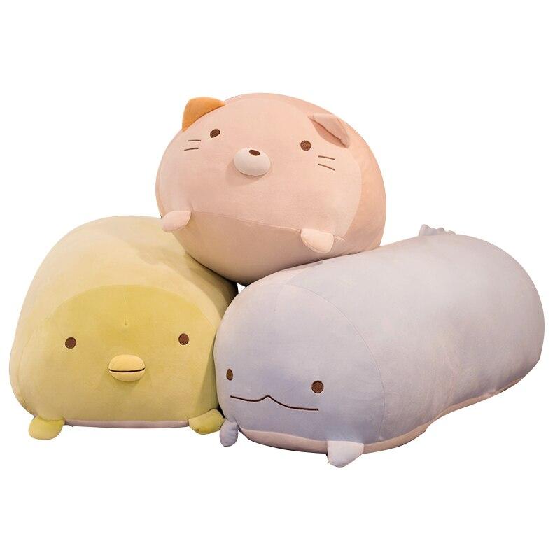 Macio Animal Dos Desenhos Animados Travesseiro Almofada Bonito Anime Japonês Sumikko Gurashi Cat Dog Porco Brinquedo de Pelúcia Lindo Presente de Aniversário para crianças