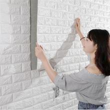 PE Schaum Dekorative 3D Stein Ziegel Panel Wand Aufkleber Für Kinder Zimmer Home Wohnzimmer Decor Selbstklebende Kunst Wandbild DIY Tapete