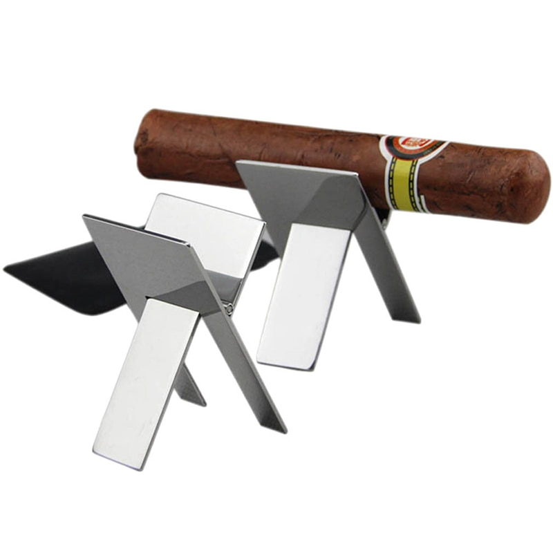 Cigars Cigarette Holder Cigarette Accessories Foldable Stand Cigarette Support Rack Portable Stainless Steel Cigars Holder