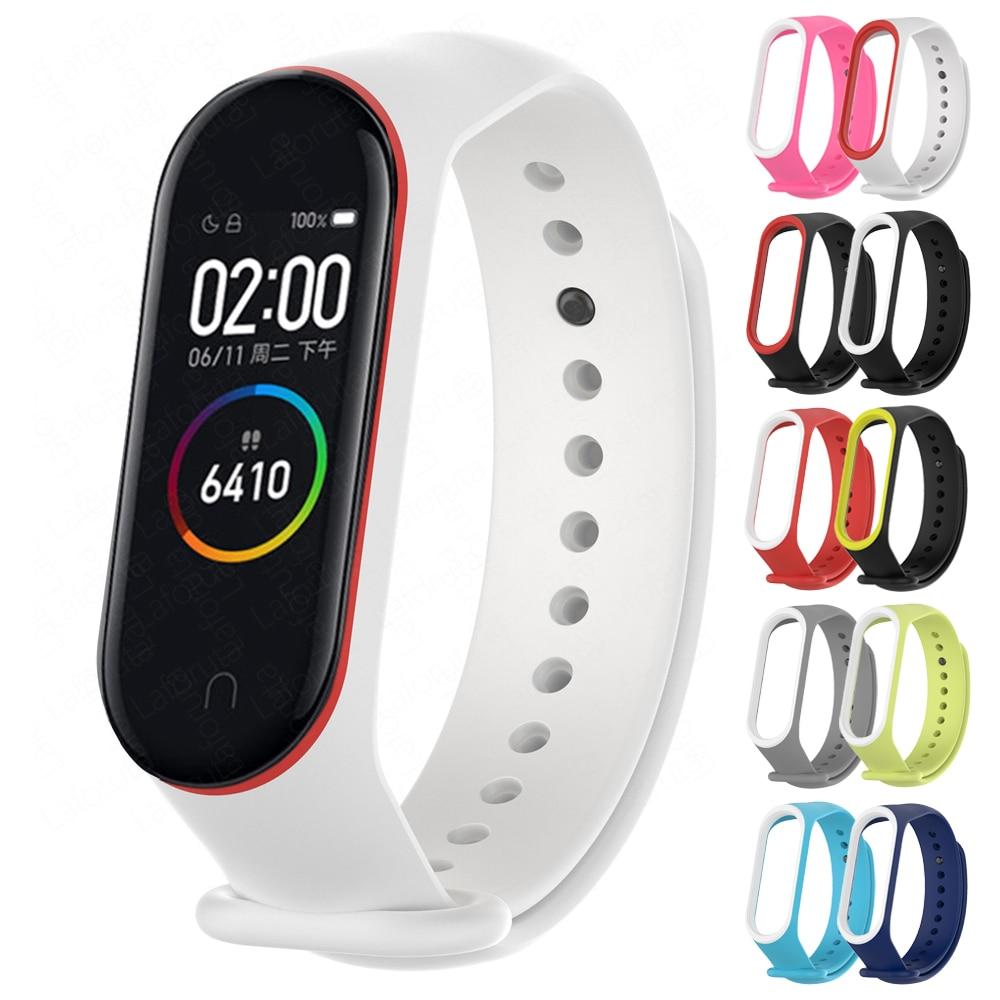 Laforuta Sports Silicone Strap for Xiaomi Mi Band 4 Bracelet Wristband Miband 3 Replacement Wrist Strap for Mi Band3 4