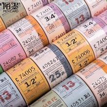 30mm wide British vintage ticket decoration washi tape DIY planner scrapbooking masking tape With release paper