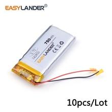 10 Stks/partij 750 Mah 542850 3.7 V Lithium Li Ion Polymeer Oplaadbare Batterij Plib Voor Dvr, Gps, mp3, Mp4, Mobiele Telefoon, Tablet Batte